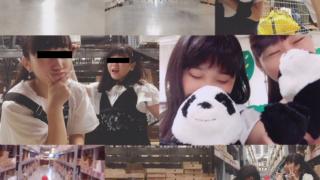 【バカッター】IKEAで2人組JKが大暴れ!!カートに乗るわ、ぬいぐるみに顔うずめるわ!