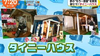 【めざましテレビ】激セマ!タイニーハウスが話題!【大人の秘密基地】